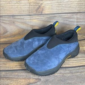 MERRELL blue suede hiking/trail slip on shoes